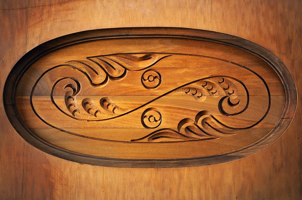 Wood Carving in the Cottage at Fairbanks Alaska Lodging - A Taste of Alaska Lodge